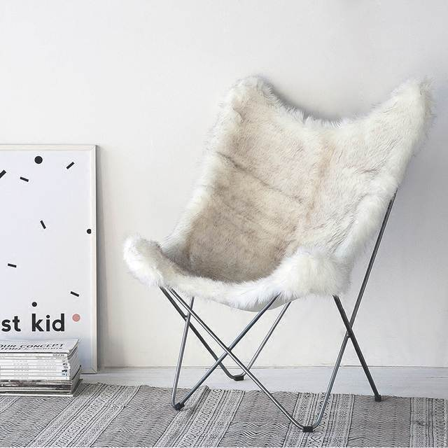 Swell Louis Fashion Chaise Lounge Nordic Style Creative Home Designer Cowhide Single Butterfly Leisure Chair Gmtry Best Dining Table And Chair Ideas Images Gmtryco