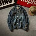 Fashion Frayed Jean Jacket Men New Arrivals Harajuku Style Hole ManDenim Jackets Casual Man Coats  M-5XL Blue jaqueta masculina