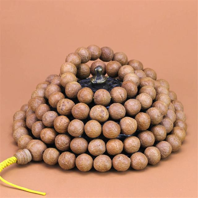 BRO787 Semillas de Fénix ojo Bodhi del Real nepalí, 108 cuentas de oración Mala