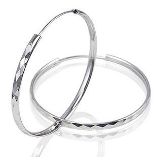 925 Sterling Silver Fashion Earrings Exaggeration Ear Ring Female HF042