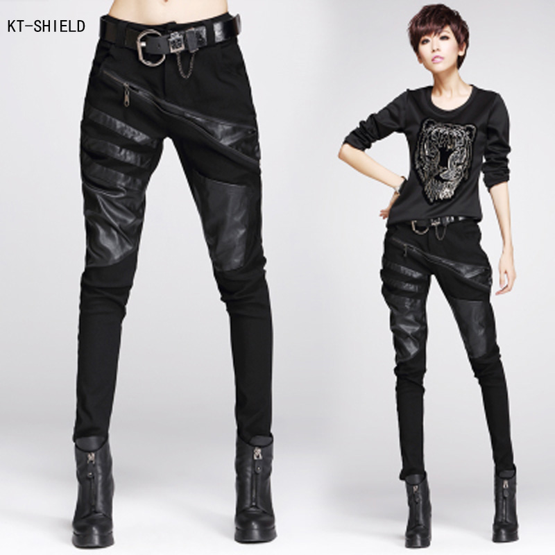New Popular Women39s Leather Motorcycle PantsBuy Cheap Women39s Leather Mo