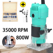800W 35000rpm Woodworking Electric Trimmer Wood Milling Engraving Slotting Trimming Machine Hand Carving Machine Wood Router teeth grinding machine 204 102l jewelry tools milling wood jade carving machine jewelry polishing engraving
