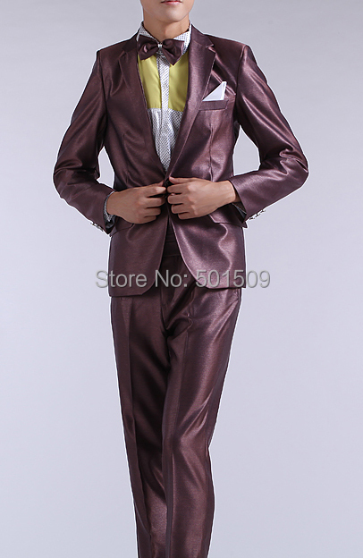 free ship mens tuxedo suit/event/stage performance, jacket with trousers