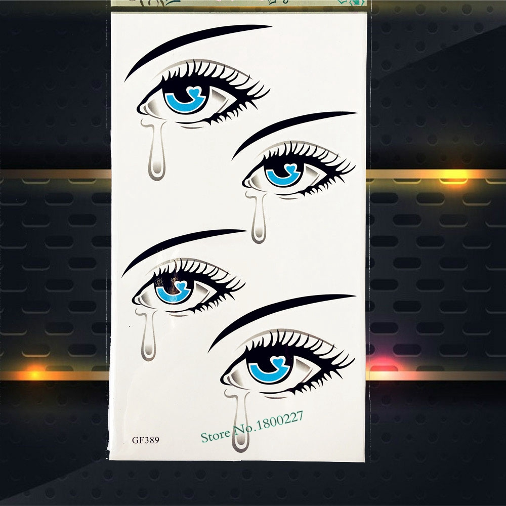 3D Eye tears in Heaven Temporary Tattoo Women Sexy Body Art ARm Flash Tattoo Sticker PGF389 Waterproof Henna Fake Tattoo Sticker