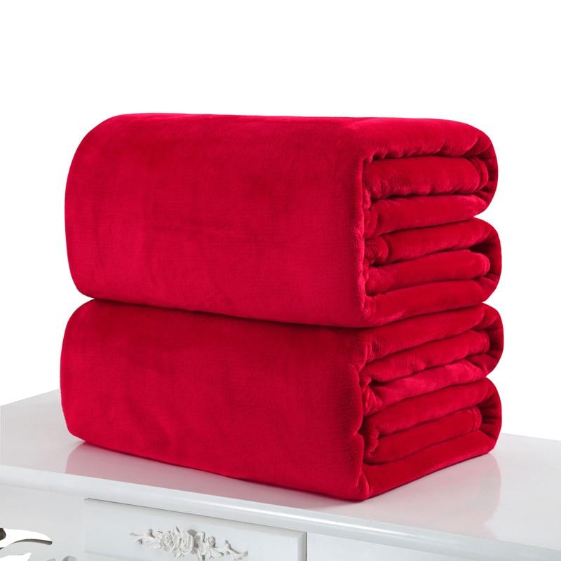 10 Colors Micro Plush Fleece Blanket Throw Rug Car Home
