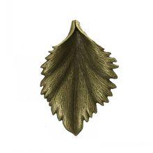 DoreenBeads Charm Pendants Leaf Antique Bronze 4.4cm x 3cm,10PCs(China (Mainland))