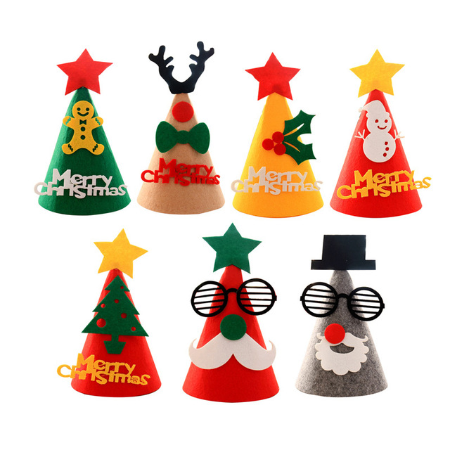 2018 New Funny Kids Christmas Party Hats Merry Christmas Santa Claus ...