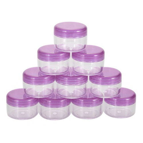 10pcs Clear Plastic Jewelry Cylindrical Storage Box Good for Home Organization purple