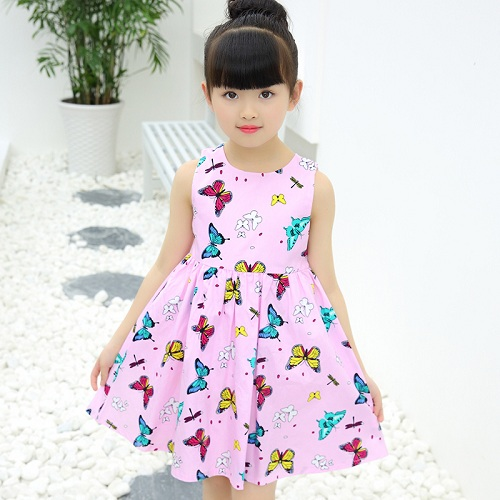 84e1b1dd26022 US $8.48 15% OFF|Shybobbi Summer Girls Dress Floral Cotton Two Layers Kids  Dresses Party Birthday Holiday Kids Clothing Size 6 14-in Dresses from ...