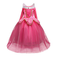 Aini Babe Long Sleeves Long Baby Girl Party Dress Floral Girl Princess Dresses Girls Halloween Costume