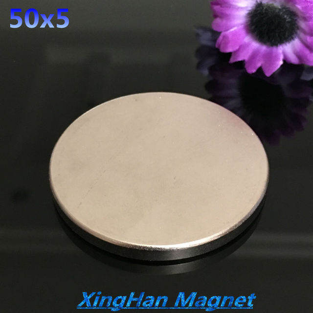 1pcs Free shipping 50x5 magnet Strong Rare Earth strong Neodymium Magnets  Dia 50x5mm wholesale 50*5