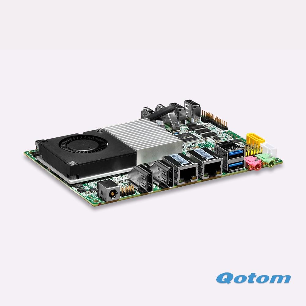Hoot,2016 new itx fanless motherboard Dual rj45 nano board DHL Free shipping