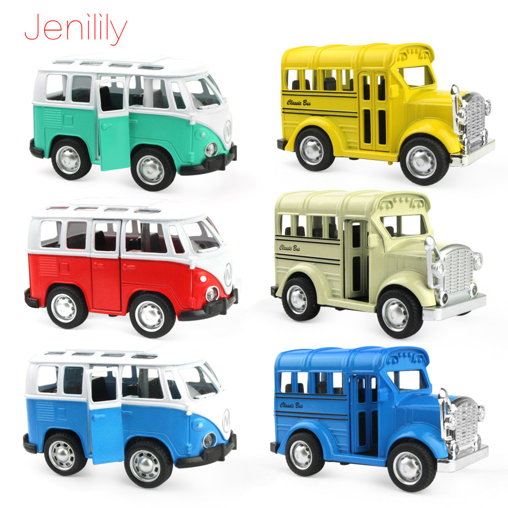 1:36 Mini Openable Door Car Toy Music Light Diecast Metal Alloy Model Car School Bus Educational Toys Children Kids Boys Gift