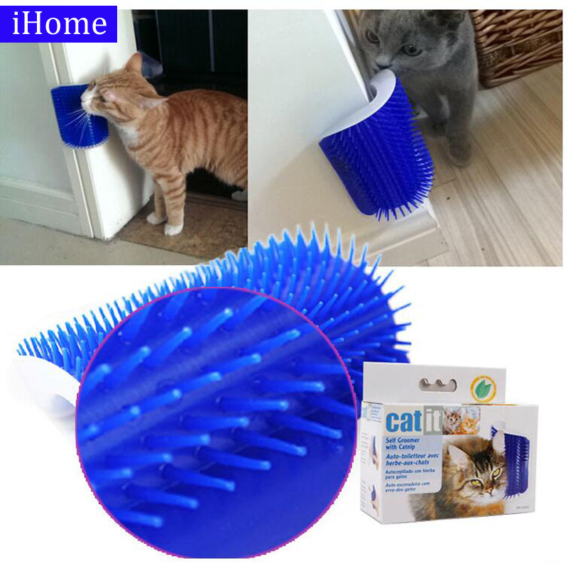 Pet Products Cat Massager Wipes Cute Fiddle Artifact Blue Furniture And Scratchers Cats Furniture Play Toy For Cats Brush Comb #2