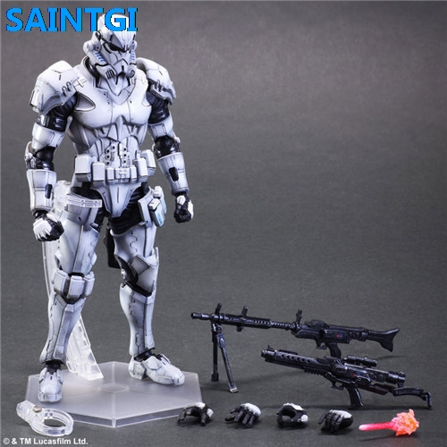 SAINTGI Star Wars storm white soldiers Kai 26cm PVC Action Figure Model Toys Gifts Collection Kids Toys Free Shipping ainy ze551ml защитная пленка для asus zenfone 2 глянцевая