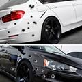SPEEDWOW 1 PCs unids pegatinas de coche 3D Bullet Hole Funny Decal Car-covers motocicleta Scratch realista Bullet Hole pegatinas impermeables