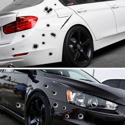 SPEEDWOW 1 шт. наклейки для автомобиля 3D пуля отверстие забавная наклейка автомобиля-Чехлы мотоцикл царапины реалистичные пуля отверстие