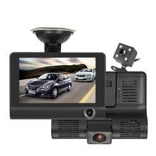 JunHom Full HD 4,0 «1080 P три объектива dvr автомобиля видеорегистратор вид регистраторы парковка видеорегистратор с экраном ночное видение бесплатная доставка