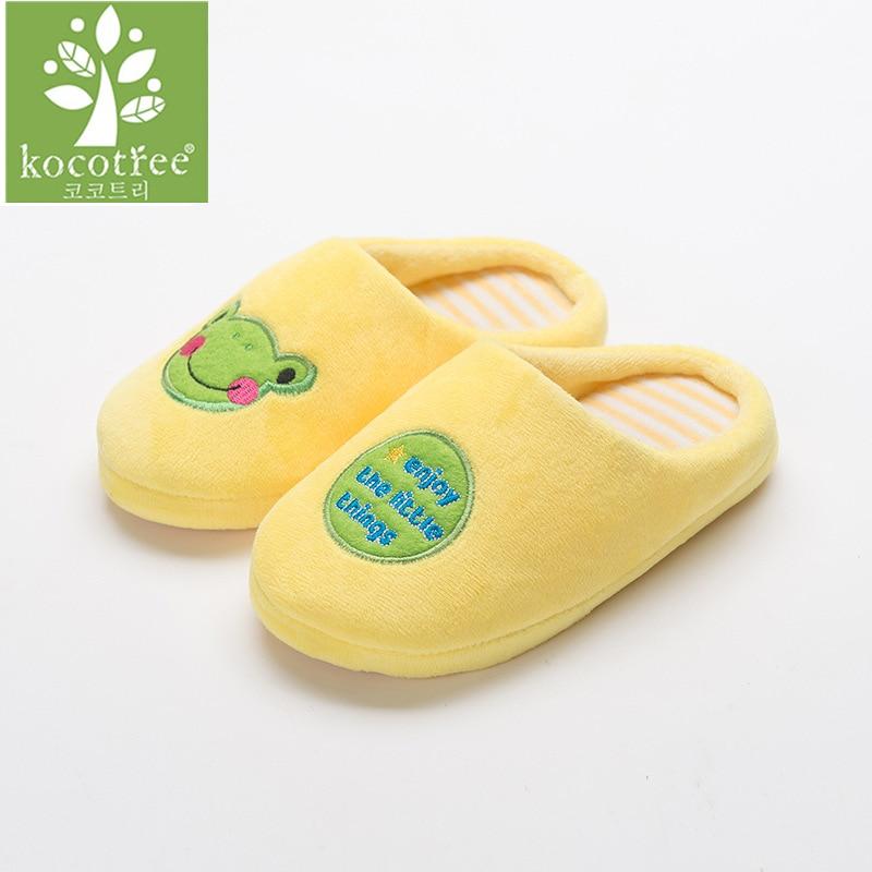 Kocotree Winter Kids Home Shoes Comfortable Cartoon Frog
