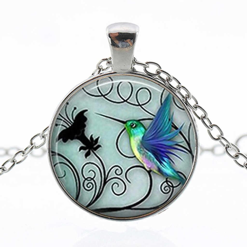 חדש Hummingbird שרשרת נשים תכשיטי כחול Hummingbird נקבה ליידי קסם תליון שרשרת צווארון mujer