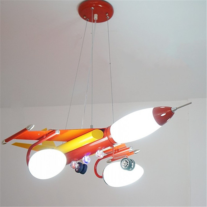 Us 180 49 5 Off Plane Chandelier Blue Red Metal Lamp For Boys Kids Children Bedroom Living Room Suspension Lighting Fixtures Pl269 In