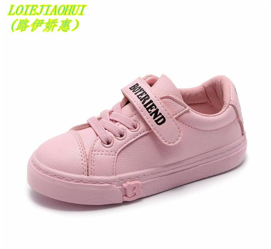 White Shoes 2018 Spring Children Fashion Shoes Baby Boy Brand Sport Sneaker Girl Toddler Casual Trainer Children School Shoes