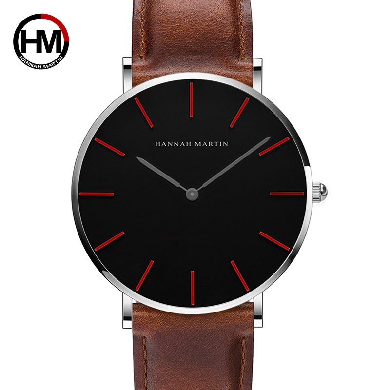 2018 New Japan Quartz Movement Ladies Watch Fashion Casual Women Leather Band Analog Wrist Watches Men's Dress Relogio Feminino