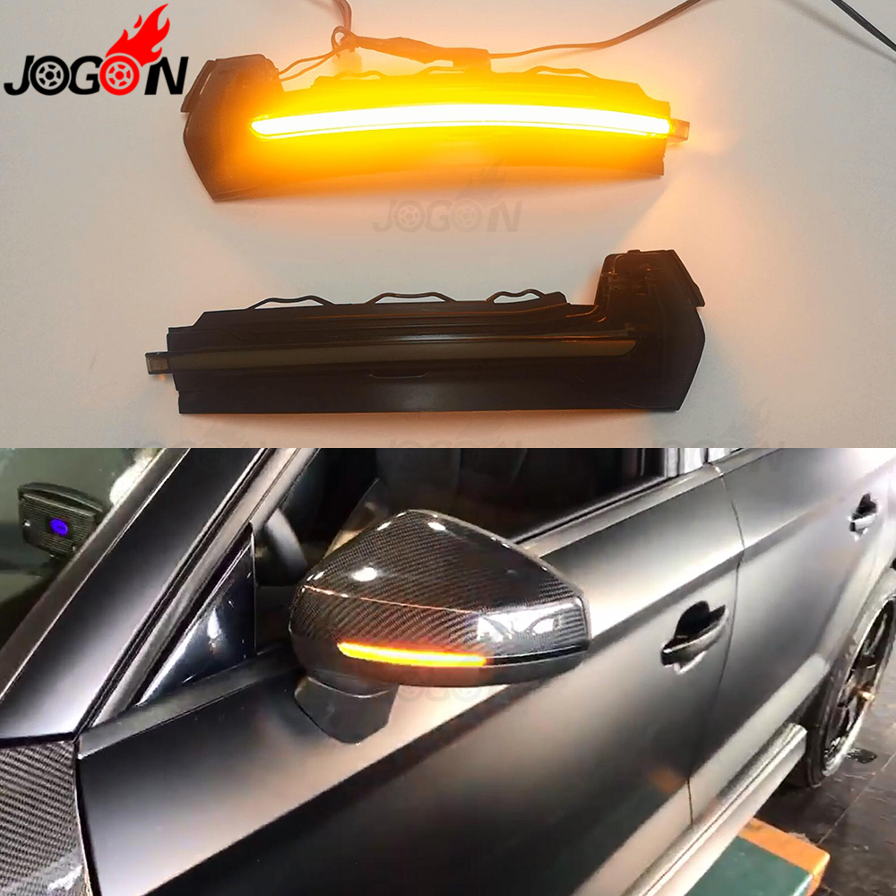 Smoked For AUDI A3 S3 RS3 8V 2013 2018 2017 Car LED Dynamic Turn Signal Light