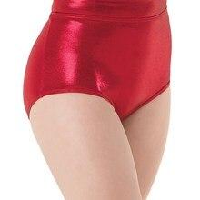 """Балетки для девочек блестящие трусы """"металлик"""" производите плавки ткани для купальники, из спандекса, трусы Для женщин тренировки Детский танец шорты"""