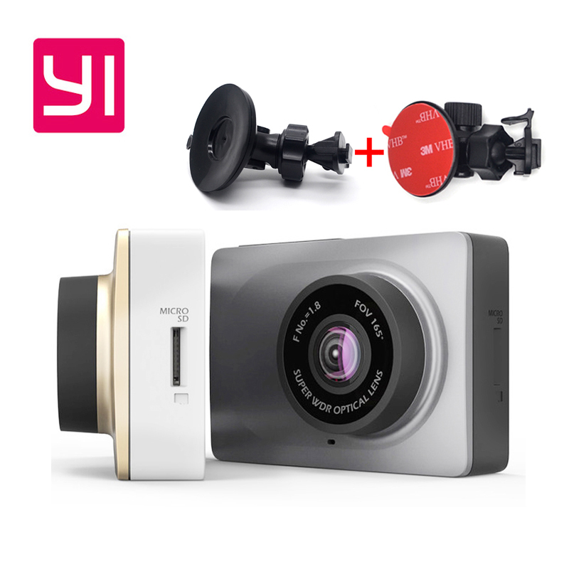 Original Upgrade International Edition Xiaomi Xiaoyi Smart Car DVR Camera Wifi 165 degree Dash Cam 1080