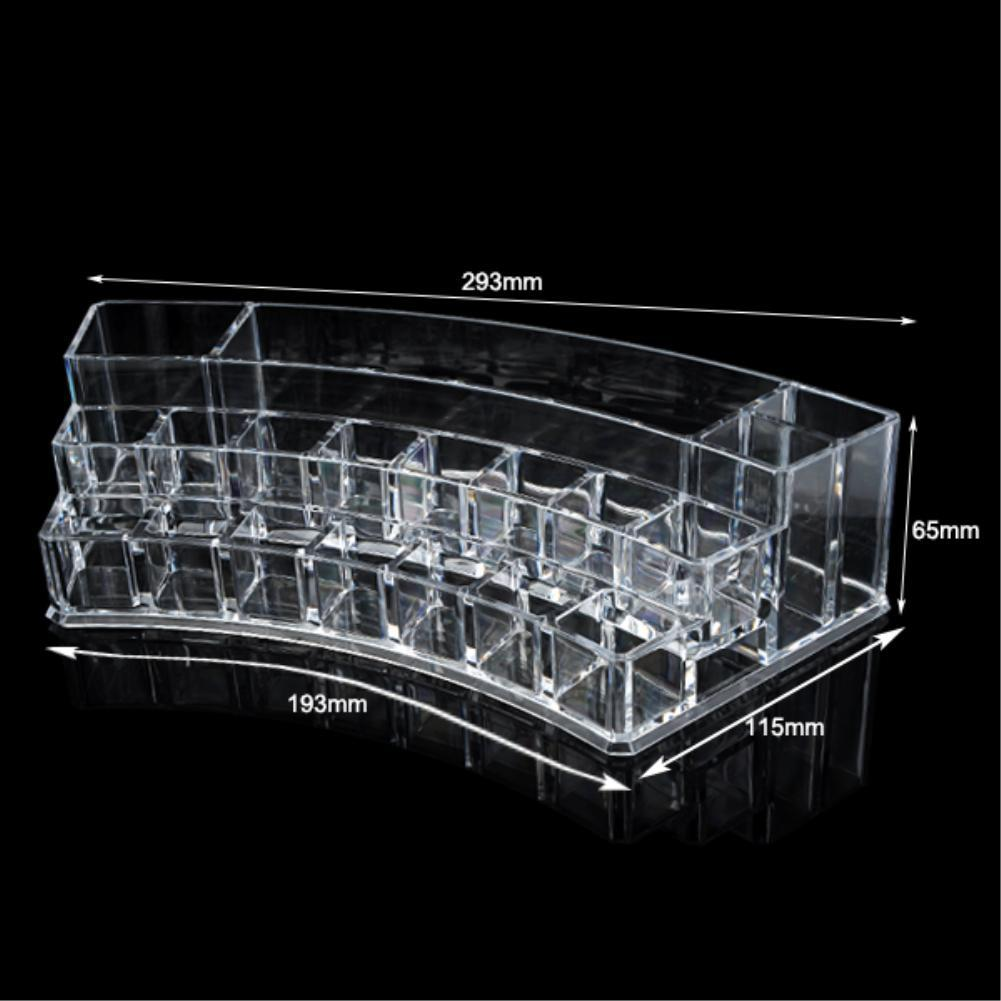 Cheap+ 19 Grids Organizer Storage Box Make up Display Stand Skin Care Sundry Container High Quality Clear Acrylic Bins