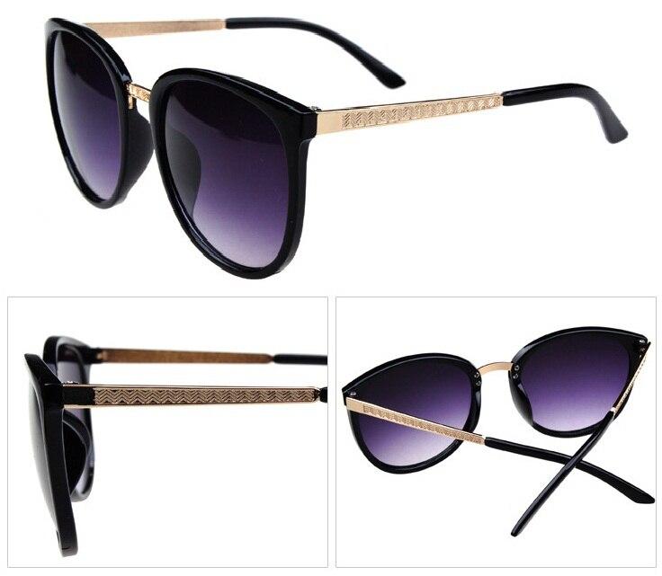 Hot Sale 2014 New Designer Retro Hipster Trendy Shades Retro Black  Sunglasses Women Gold Metal Arms Women Dark Sunglasses 55432e5d8c4c