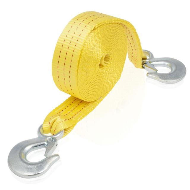 MYSBIKER Heavy Duty Tow Strap with Safety Hooks
