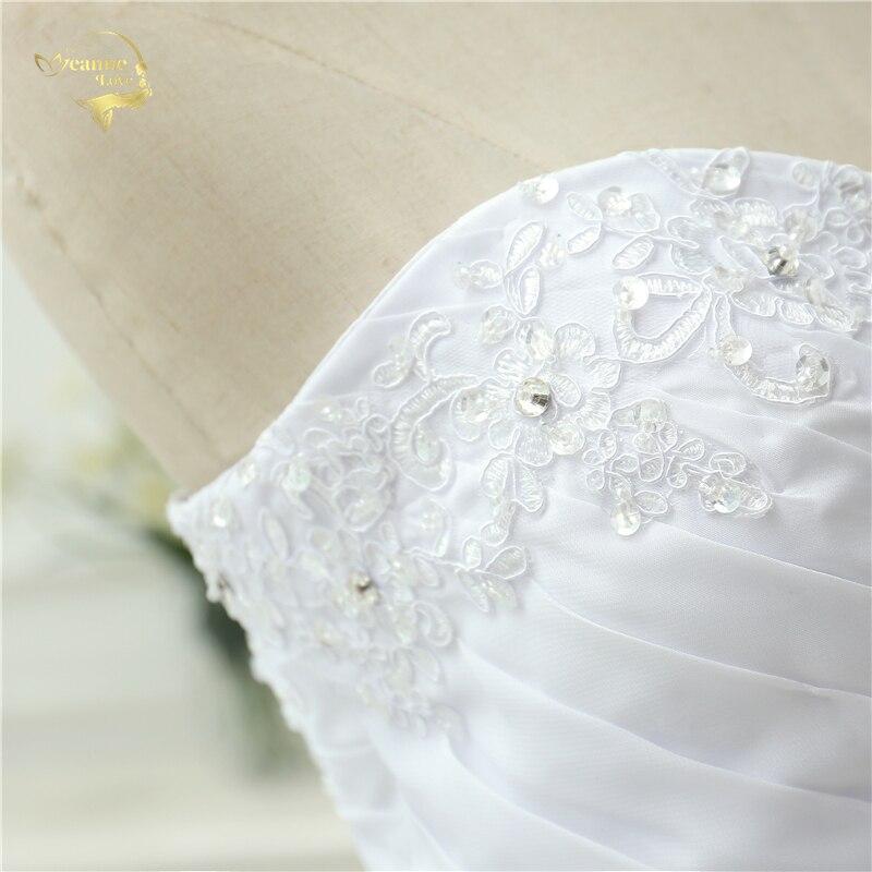 Vestidos De Novia Новое поступление шифоновое свадебное платье трапециевидной формы на шнуровке винтажное свадебное платье Casamento OW 0112