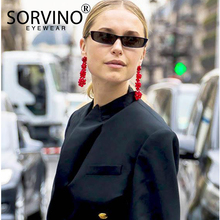 SORVINO Small Narrow Rectangle Sunglasses Men Women 2020 Bra
