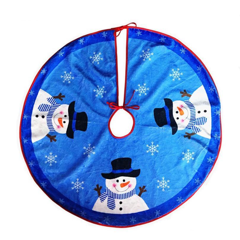 Новое поступление Рождество дерево юбка фартук Снеговик байки Рождество дома Аксессуары Синий Прямая доставка 18jan18