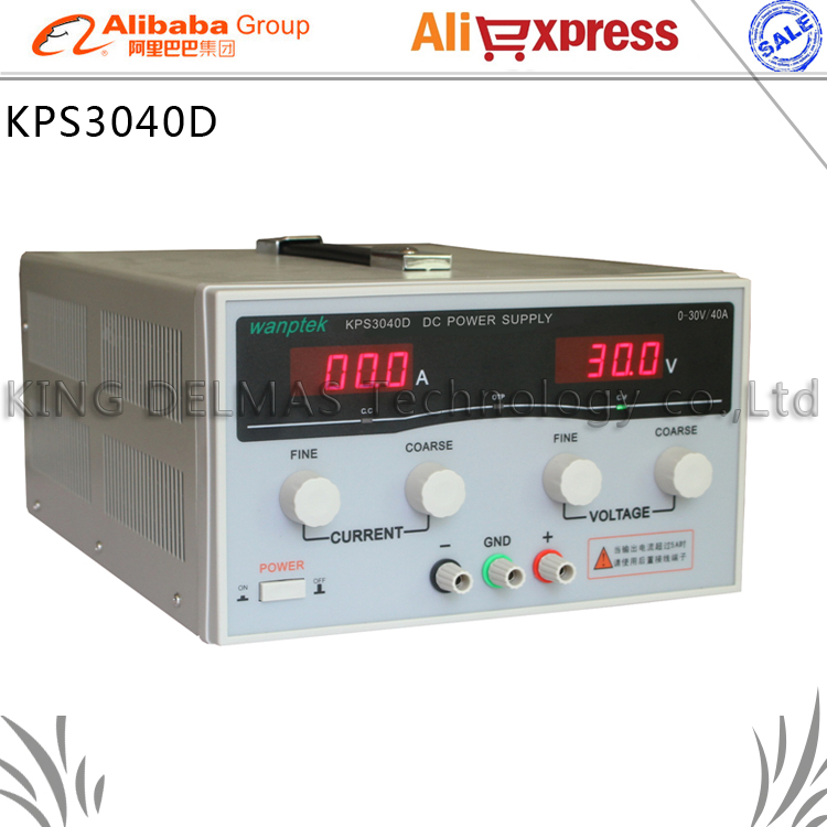KPS3040D High precision High Power Adjustable LED Dual Display Switching DC power supply 220V EU 30V/40A 1200w wanptek kps3040d high precision adjustable display dc power supply 0 30v 0 40a high power switching power supply