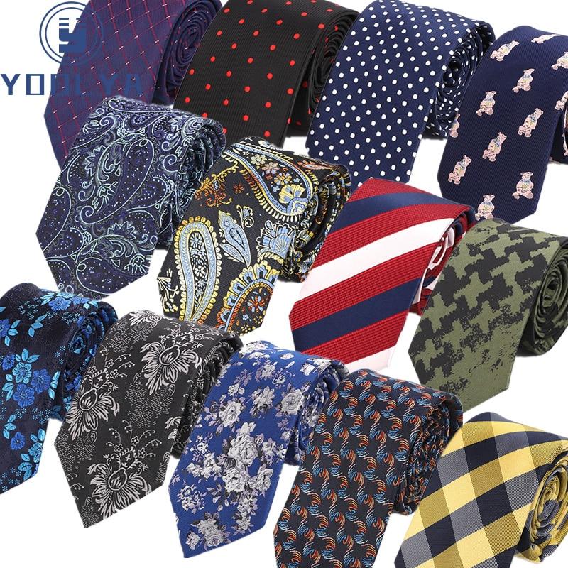 Luxury 7CM Classic Men's Ties Polyester Silk Floral Plaid Stripe Formal Bridegroom Wedding Business Necktie Neck Tie Accessories