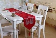 Red Velvet Hot Drilling Table Runner High Quality Fashion Home Decorative Table  Runner
