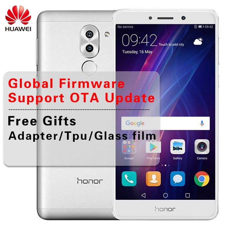 ПЗУ международного стандарта 5,5 дюймов huawei Honor 6X3 ГБ Оперативная память 32 ГБ Встроенная память две задних камеры Android 7,0 телефон Octa Core