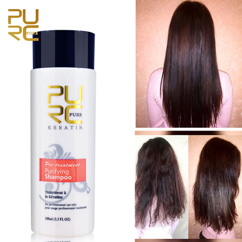 PURC 1 Set Formalin Brazilian Keratin Hair Treatment Conditioner and Protein Shampoo for Damage Hair Straightening Hair Repair Islamabad