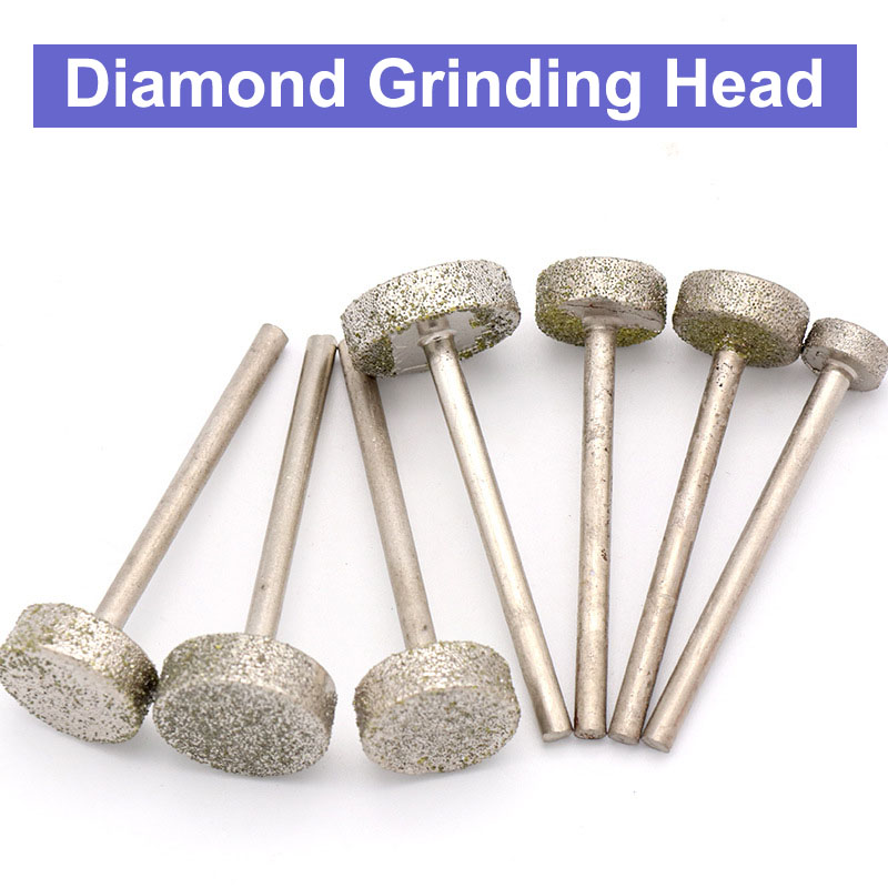Jewelry Stone Carving Polishing Rotary Tools Diamond Burr Accessories 16mm
