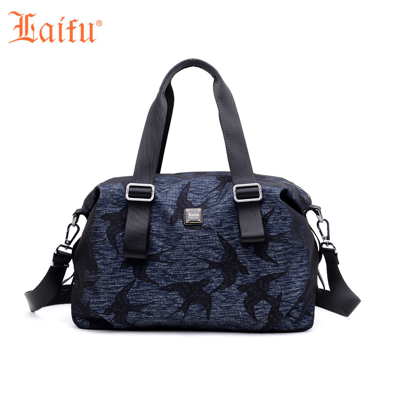 Laifu Designer Women Nylon Handbag Totes Fashion Female Crossbody Bag Teenage Girls Shoulder Bag