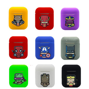 Image 1 - Hero Cartoon Wireless Bluetooth Earphone Case For Apple AirPods Silicone Charging Headphones Cases for Airpods Protective Cover