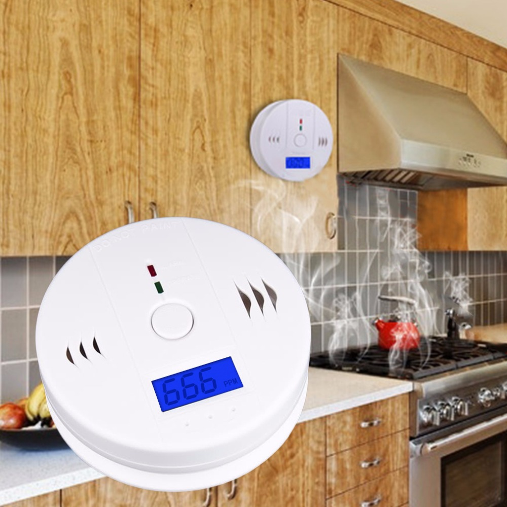 Sunshine in our store New Home Safety CO Carbon Monoxide Poisoning Smoke Gas Sensor Warning Alarm Detector Kitchen High Quality hot search