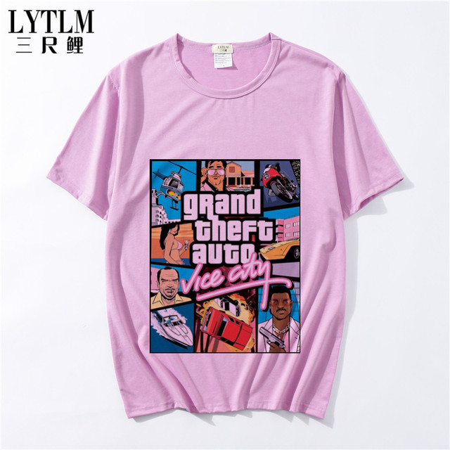 caab6d1cd LYTLM Grand Theft Auto Vice City Summer Children's Clothes Cartoon T-Shirts  Motorcycle Boys Girls Clothing Kids T Shirt For Boys