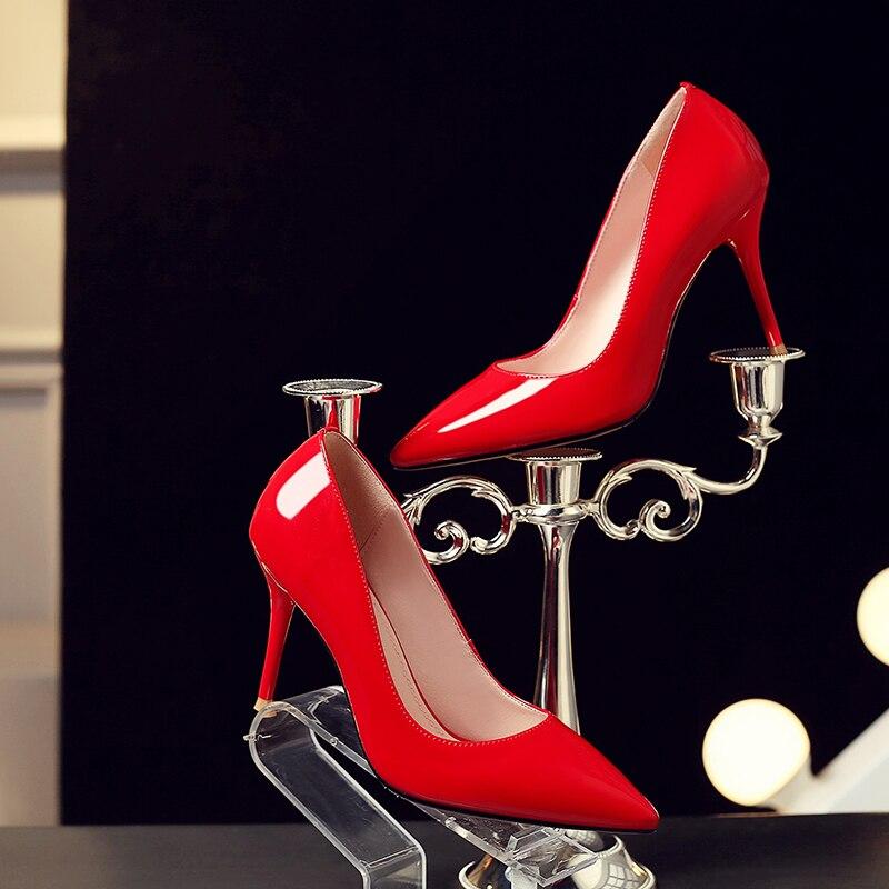 Однотонные тонкие туфли на высоком каблуке; Профессиональная модная повседневная обувь для свиданий