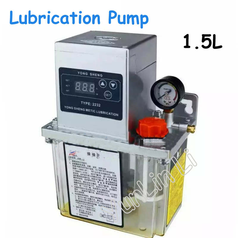 1.5L Auto Lubrication Pump CNC Single Digit Display Electric Lubrication Pump full set 1 5l fully automatic lubrication pump 220v single screen oil lubrication pump for cnc router