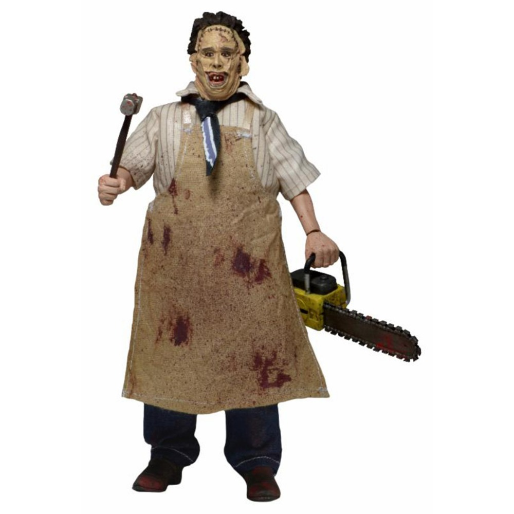 Neca The Texas Chainsaw Massacre Leatherface 8 Action Fiugre Toy Christmas Gift for Kids APL010002 Free Shipping genuine mezco texas chainsaw massacre saw massacre pvc action figure collectible model toy christmas gifts free shipping
