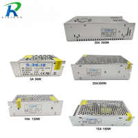 RiRi Won 2A 3A 5A 10A 12V lighting transformer Small Volume Single 12 volt Output Switching power supply for LED Strip light
